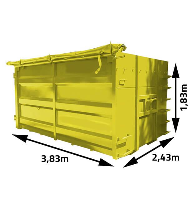 Kontener na odpady i gruz 15m3