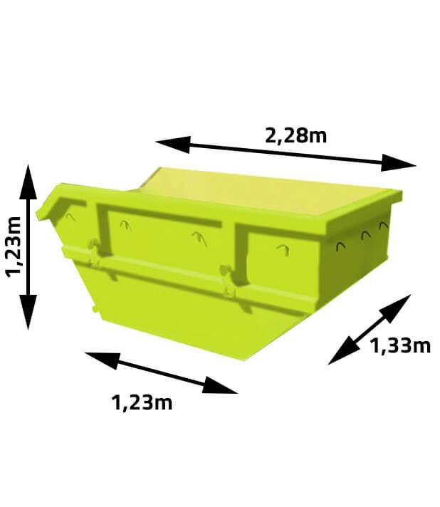 Kontener na odpady i gruz 2m3