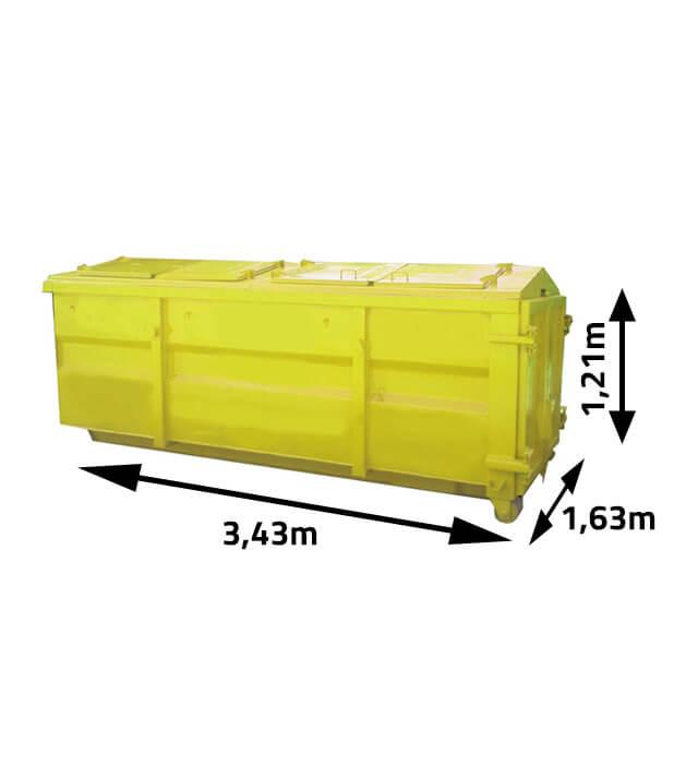 Kontener na odpady i gruz 7m3 z klapami
